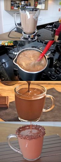 's ScandiFever - same color doors and drawers Yummy Snacks, Snack Recipes, Dessert Recipes, Yummy Food, Tasty, Chocolate Recipes, Hot Chocolate, Janes Patisserie, Chocolate Caliente