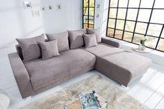 Rohová sedačka sivá TACOMO GRAY 2. Sedačky Reaction. Xxl Sofa, Sofa Couch, Sofa Design, Living Room, Grey, Furniture, Home Decor, Products, Environment