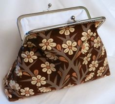 handmade clutch purse with vintage fabric