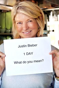 What do you mean? My girl @MarthaStewart #1Day