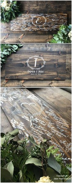 Best Ideas For Wedding Guest Book Table Rustic Flower Wood Guest Book, Guest Book Table, Rustic Wedding Guest Book, Wedding Book, Diy Guest Books, Guest Book Ideas For Wedding, Wedding Country, Guest Book Sign, Wedding Quotes