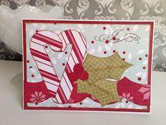 Joy card by Gail Owens for @kiwilane using Kiwi Lane templates and My Mind's Eye paper