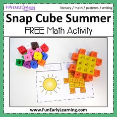 Fun hands-on activity for shapes and shape writing. Perfect for preschool, kindergarten, RTI and early childhood. Summer School Activities, Hands On Activities, Preschool Activities, Preschool Summer Theme, Summer School Themes, Kindergarten Math Games, Preschool Math, Math Math, Maths