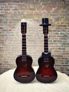 Guitar wedding cake topper-musician-wedding cake topper-guitar-music-instrument-musical-guitar wedding-rock star