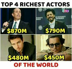 Wow Facts, Wtf Fun Facts, Funny Facts, Reality Of Life, Reality Quotes, Attitude Quotes For Girls, Girl Quotes, Shah Rukh Khan Quotes, Richest Actors