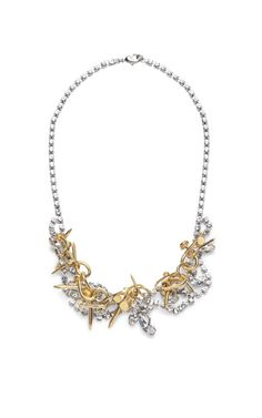Voila Crystal Necklace With Twisted Nails by Tom Binns Now Available on Moda Operandi