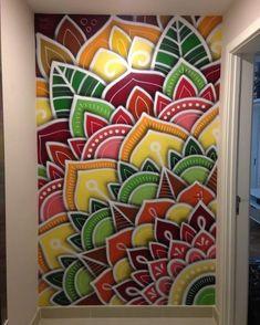 art Trendige Wandmalerei Graffiti-Hausideen Mishaps In A Critter Friendly Garden Article Body: Yeste Wall Art Designs, Paint Designs, Wall Design, House Design, Mandala Design, Mural Art, Wall Murals, Diy Wall Art, Diy Art