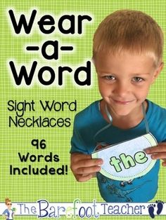 Wear a Word - Sight Word Necklaces