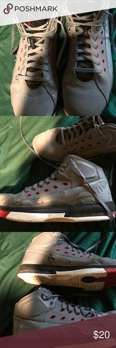 Jordan old school shoes Little recked Jordan Shoes Sneakers High Top Sneakers, Shoes Sneakers, School Shoes, Jordans For Men, Fashion Tips, Fashion Design, Fashion Trends, Jordan Shoes, Converse Chuck Taylor