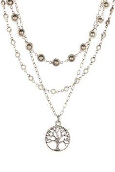 HauteLook | Necklaces: mariechavez Triple Strand Silver Tree of Life Necklace