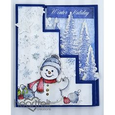 Heartfelt Creations - Frolicking Frosty Step Card Project