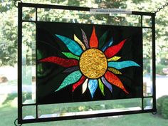 Midnight Sun 22 Color Stained Glass Window Panel Sampler Nr 1940-Now photo