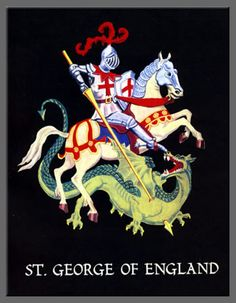 Most Adorable Saint George Day Wishes Pictures And Images George & Dragon, Saint George And The Dragon, Happy St George's Day, Patron Saint Of England, St George's Cross, Knight On Horse, St Georges Day, George Cross, Day Wishes