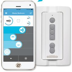 """Features:  -Bluetooth.  Product Type: -Fan Controls.  Mounting: -Remote Control.  Finish: -Blue. Dimensions:  Overall Height - Top to Bottom: -4.77"""".  Overall Width - Side to Side: -2.28"""".  Overall De"""