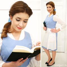 Belle Halloween Costume Blue Dress - Sara du Jour