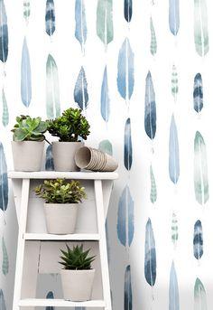 'Feathers' Wallpaper By Mini Moderns & Matt Sewell (via Bloglovin.com )