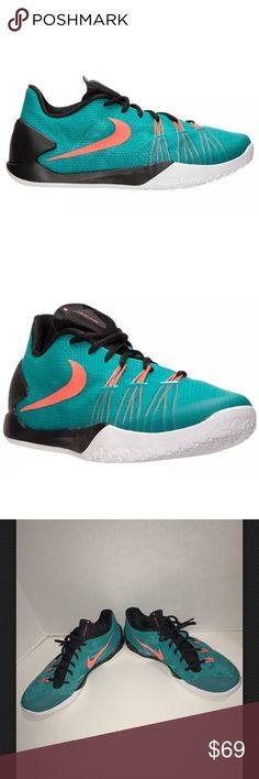 NIKE HYPERCHASE Basketball Sneaker SZ 13 NIKE HYPERCHASE 705363-480 LIGHT RETRO TEAL HOT LAVA BLACK SIZE: 13 worn once in great condition  Nike Shoes Sneakers