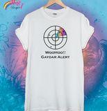 Gaydar Alert Design £8.50 White Tshirt Rainbow Dust Designs - Printed T Shirts, Custom T Shirts, Pesonalised Clothing
