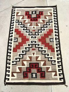 Exceptional Circa 1900 Navajo Native American Indian Rug from The Vault Fine Antiques & Estate Jewelry on Ruby Lane