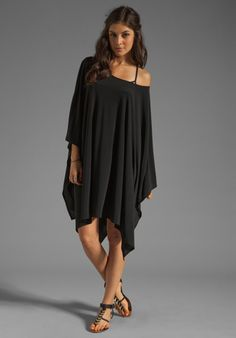 :) xx    NORMA KAMALI Hole In A Square Cover Up in Black at Revolve Clothing - Free Shipping!