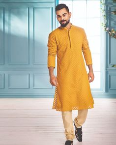 Stylish Wear for Modern Grooms: 'The Virat Collection' by Manyavar Mens Indian Wear, Mens Ethnic Wear, Indian Groom Wear, Indian Men Fashion, India Fashion Men, Fashion Suits, Fashion Styles, Sherwani For Men Wedding, Wedding Dresses Men Indian