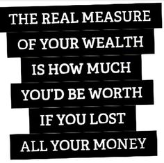 who are u rich and who are u poor?