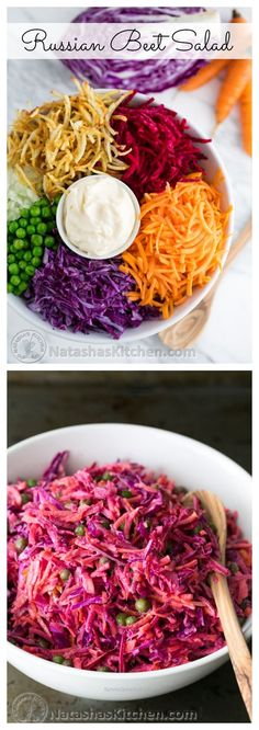 Incredible This Russian beet salad is always a hit at holiday parties and church potlucks and it's easy peasy! Russian food recipes The post This Russian beet salad is always a hit at holiday pa .. #BeetSaladWithGarlic