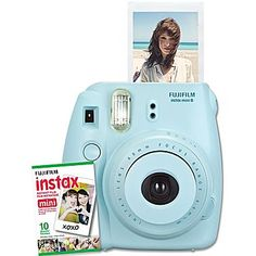 Fujifilm's new Instax Mini 8 Instant Camera has a cute and compact body design available in five colours. Bring instant fun and excitement to your everyday life – Instant photos, instant fun! Instax Mini 8 Blue, Instax Mini 8 Camera, Fuji Instax Mini, Fujifilm Instax Mini 8, Presents For Girls, Gifts For Kids, 10 Year Old Gifts, Film Blue, Inexpensive Christmas Gifts