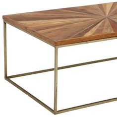 Jupiter Coffee Table, Wood Top With Antique Brass Leg Clear Coffee Table, Brass Coffee Table, Barker And Stonehouse, Reclaimed Wood Coffee Table, Wooden Tables, Diy Furniture, New Homes, Occasional Tables, Design Inspiration