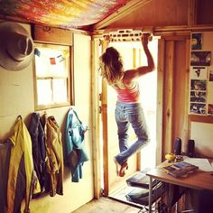 awomansplaceisontop: Katie Lambert in El Portal at Ron Kauk's house. Queue Eye of the Tiger. Photo by Jeff Johnson - @Patagonia- #webstagram Finally just hung my board.. get it.
