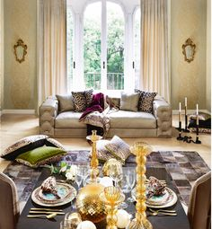 Roberto Cavalli Sofa' collection Cozy Furniture, Outdoor Furniture Sets, Roberto Cavalli, Cottage Kitchens, Drawing Room, Panel Curtains, Curtain Panels, Home Collections, Decor Interior Design