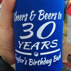 Texas Boot Scootin/' 30th Birthday koozies no minimum can coolers quick ship