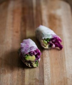 Sesame Crusted Avocado & Cabbage Spring Rolls