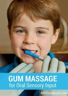 Gum massage is a simple yet effective way to provide oral stimulation to a large surface area within the mouth. This tactile input can: . • help decrease oral aversions for hypersensitive individ…