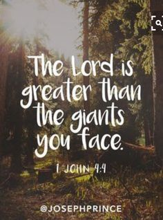 The Lord Is Greater Than The Giants You Face quotes quote religious quotes quotes about religion religious life quotes Religious God Jesus Quotes Inspiration Prayer Lord Bible Proverb Faith Christian Book Quote Inspiration Life Bible Verses Quotes, Bible Scriptures, Faith Quotes, Quotes Quotes, Qoutes, Bible Quotes About Faith, Prayer Quotes, Tattoo Quotes, Worrying Quotes Bible