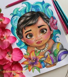 drawing of Disney Moana Easy – painting and drawing – - Lombn Sites Disney Character Drawings, Disney Drawings Sketches, Disney Princess Drawings, Disney Princess Art, Art Drawings Sketches Simple, Pencil Art Drawings, Colorful Drawings, Cartoon Drawings, Cartoon Art