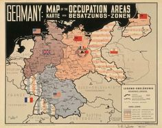 - Occupation zones in Germany 1945.