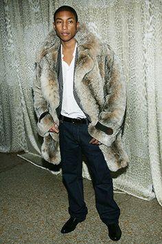 Pharrell keeping warm #furcoat #backtofall