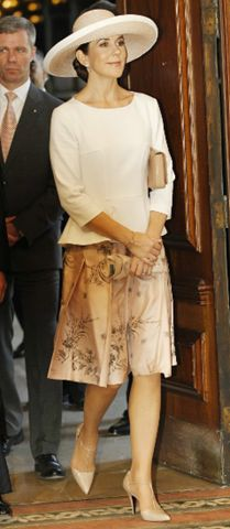 Crown Princess Mary of Denmark looking elegant in Chile. This is one of my favorite hats that she wears.