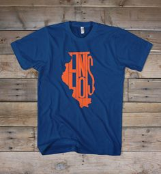 The great state of Illinois. The Land of Lincoln.  Printed on the bold colors of the Bella+Canvas short-sleeve T-shirt. Extremely soft, durable and fashion fitting.  4.2 oz., 100% combed and ringspun cotton  *Machine wash cold & hang dry or dry at very low heat. Some shrinkage may occur. Please refer to the Sizing Chart to find the best fit for you.  © 2014 The Stately Shirt Company