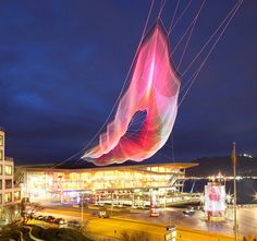 This massive floating web is art you can control from your phone | The Verge