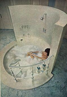 When Sex & Kitsch Collide: A Brief Compendium of Weird Retro Tubs Elvis Presley's Birthday, Sunken Bathtub, Messy Nessy Chic, Shag Carpet, Arabian Nights, Cloud 9, Mid Century House, My New Room, Palm Springs