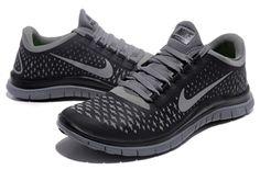 Nike Free Run 3.0 V5 Grey Silver Black For Running For Men #fashion  #sneakers