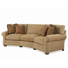 Shop for the Century Cornerstone Customizable Conversation Sofa with Sock Arms and Bun Feet at Sprintz Furniture - Your Nashville, Franklin, and Greater Tennessee Furniture & Mattress Store Den Furniture, Living Room Furniture, Furniture Ideas, Living Room Remodel, Living Room Sofa, Living Rooms, Palm Beach, Curved Couch, Conversation Sofa