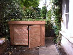 Green Roof Classic Bike Shed Garden Bike Storage, Patio Storage, Shed Storage, Garbage Storage, Range Velo, Narrow Garden, Outdoor Projects, Outdoor Decor, Rooftop Patio
