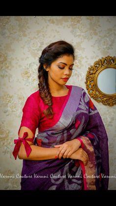 Saree Blouse Neck Designs, Fancy Blouse Designs, Sleeves Designs For Dresses, Sleeve Designs, Blouse Designs Catalogue, Stylish Blouse Design, Designer Blouse Patterns, Indian Fashion, Fashion Ideas