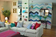 chevron painted wall sadie + stella: Favorite Room Feature: Gorgeous Shiny Things