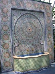 Moroccan tile fountain. Because I only like tile when it forms pretty patterns.