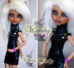 OOAK Monster High Custom Repaint Clawdeen Wolf by by RogueLively