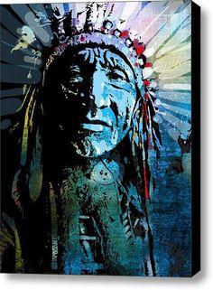 Sioux Indian Stretched Canvas Print / Canvas Art By Paul Sachtleben